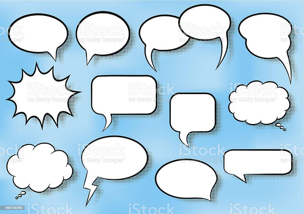 comic style speech bubbles royalty-free stock vector art
