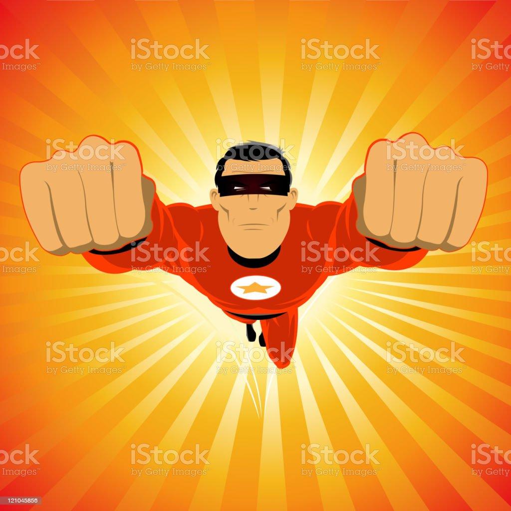 Comic Super Hero - Male royalty-free stock vector art