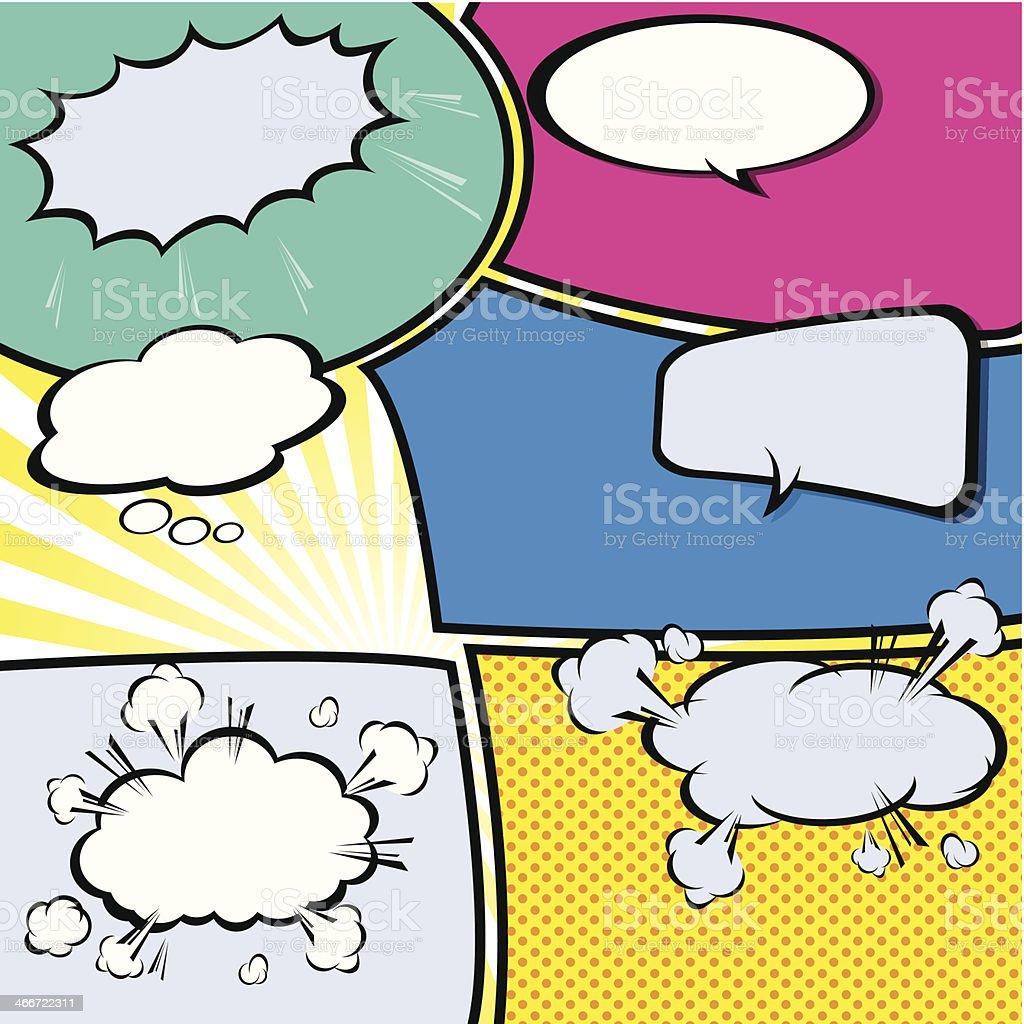 comic template Vector Pop-Art royalty-free stock vector art