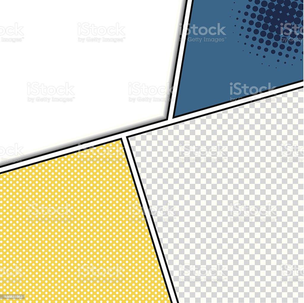 comic template Vector royalty-free stock vector art