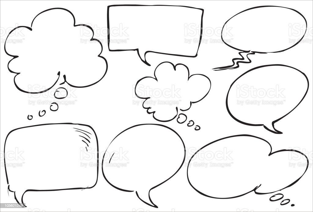 comic text balloons royalty-free stock vector art