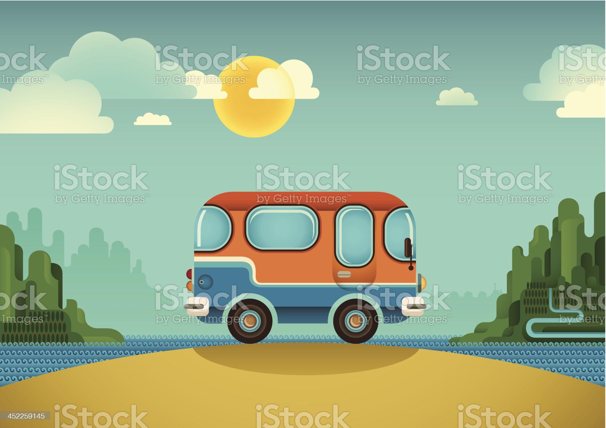 Comic van. royalty-free stock vector art