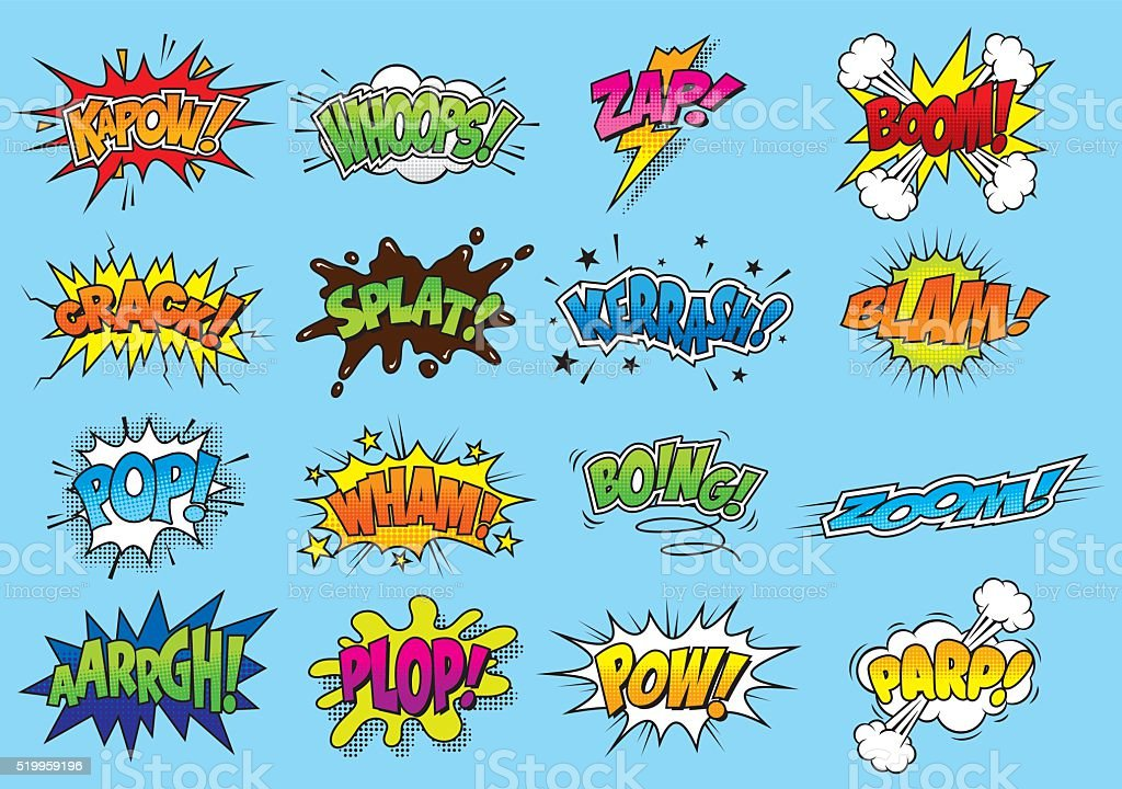 Comic/Cartoon Sound Effects vector art illustration