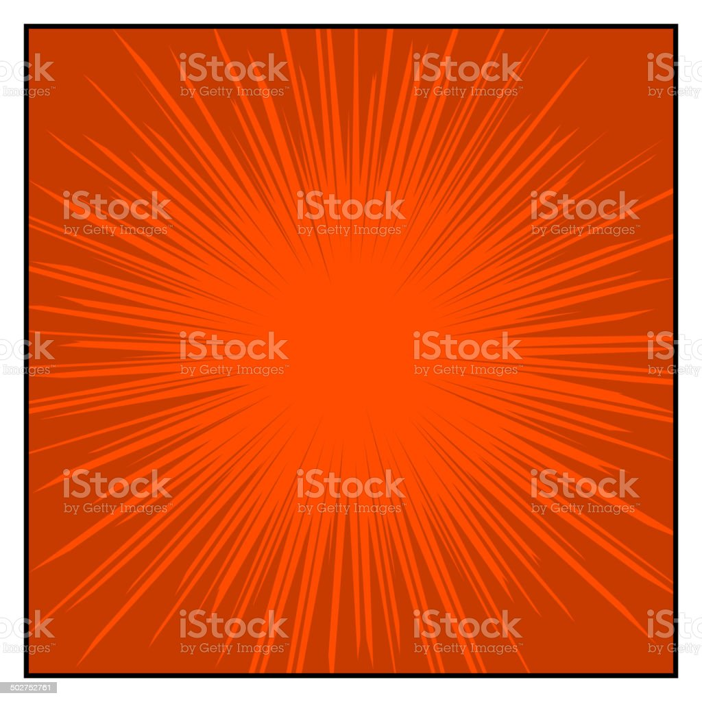 Comics Color Radial Speed Lines graphic effects. Vector royalty-free stock vector art