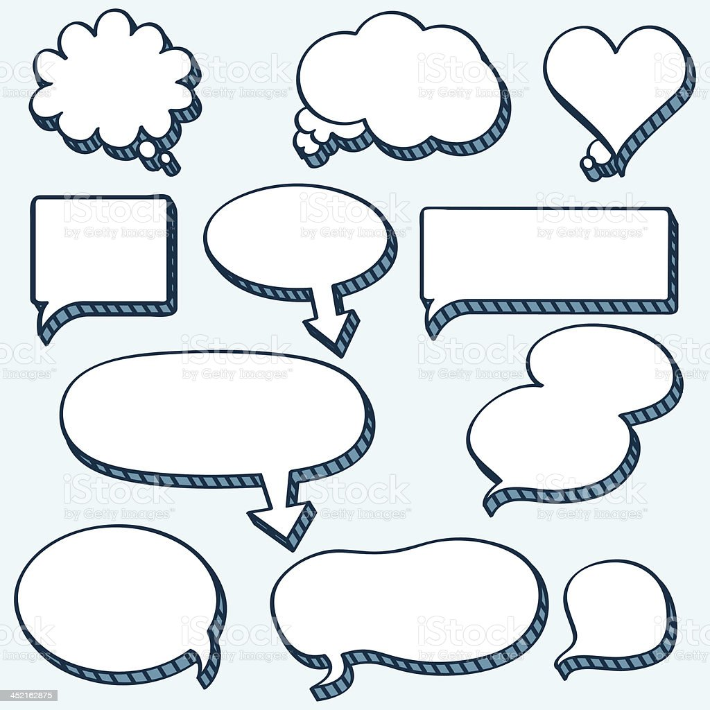 Comics speech and Thought Bubbles royalty-free stock vector art