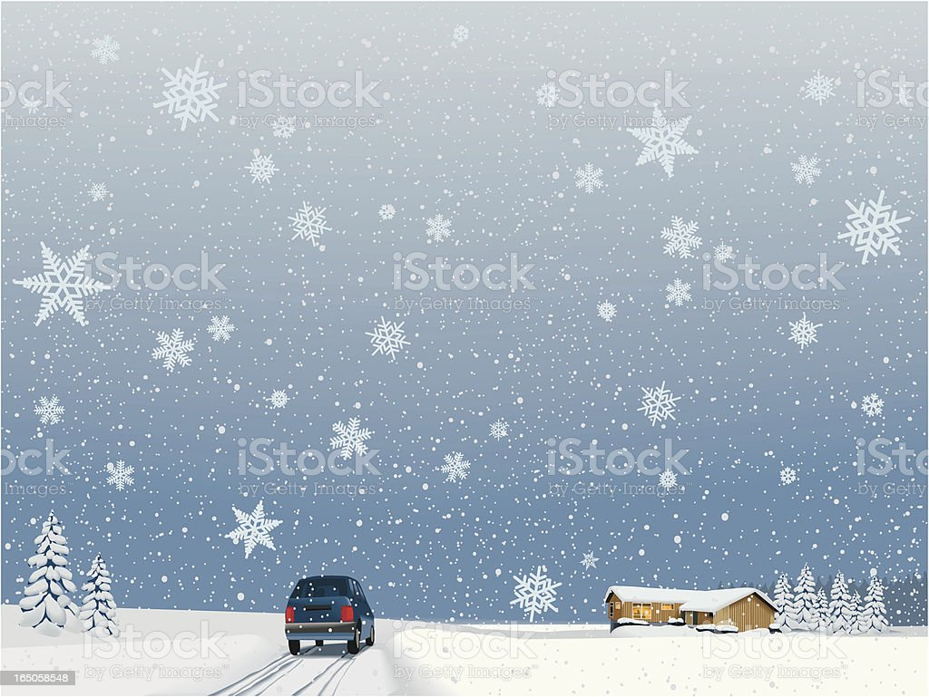 Coming home for the holidays royalty-free stock vector art