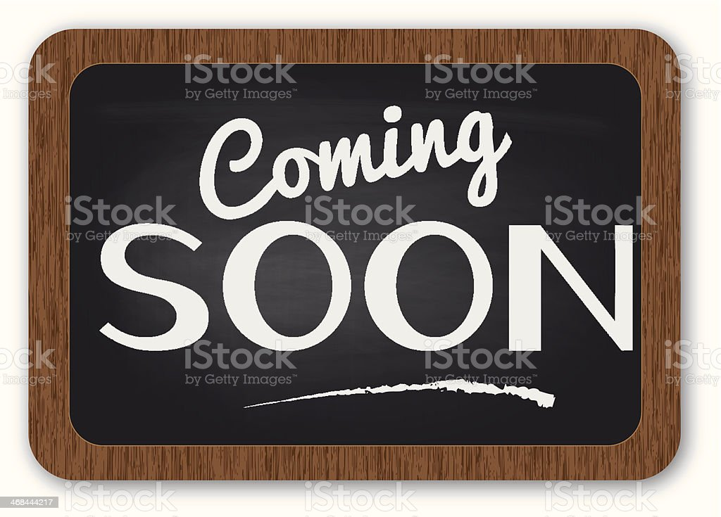 Coming soon sign royalty-free stock vector art