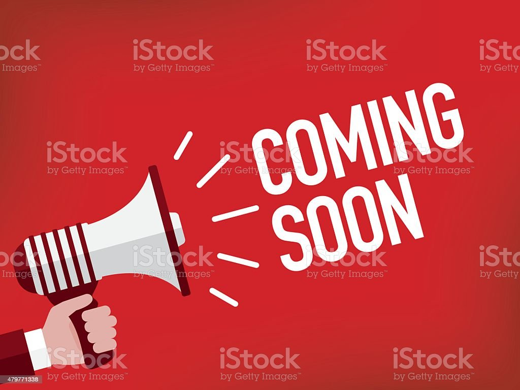 Coming Soon vector art illustration