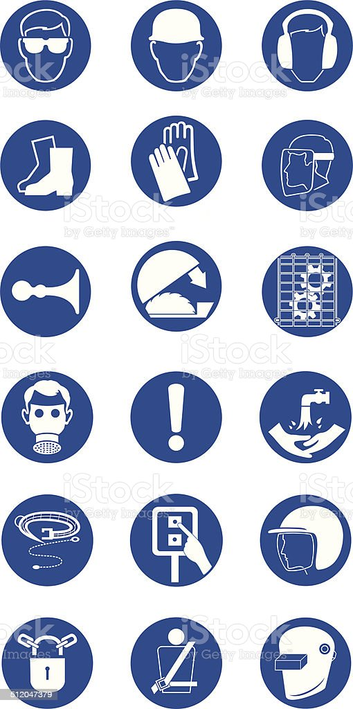Commanded signas vector art illustration