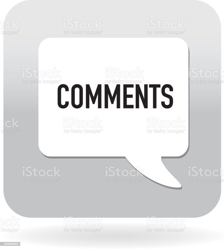 Comments speech bubble icon vector art illustration