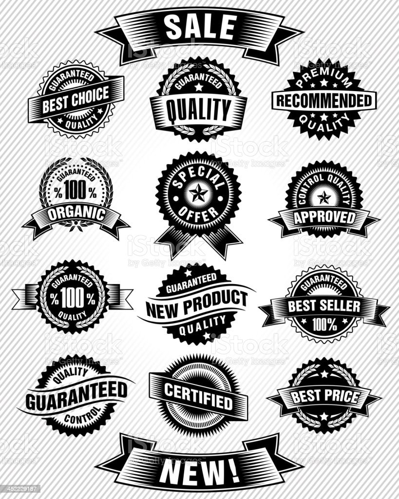Commerce Labels vector art illustration