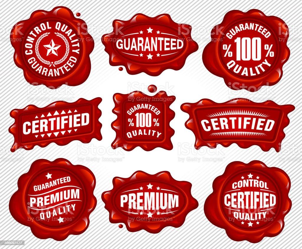 Commerce Labels vector art illustration