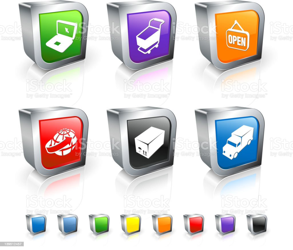 commerce royalty free vector icon set royalty-free stock vector art