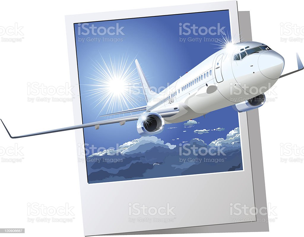 Commercial airliner royalty-free stock vector art