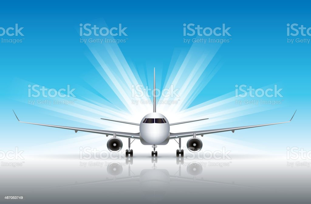 Commercial Airplane vector art illustration
