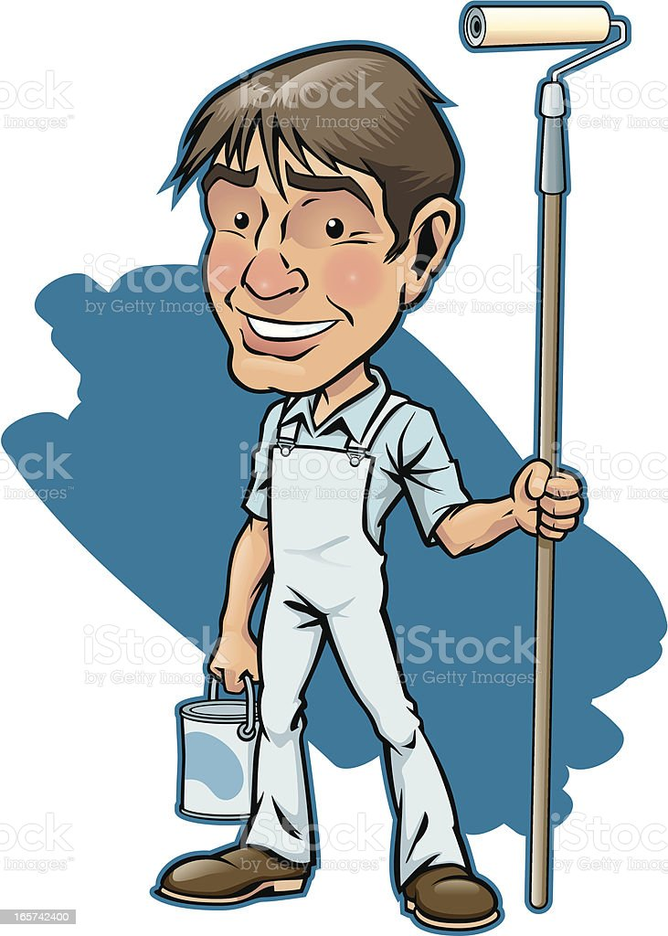 Commercial Painter vector art illustration