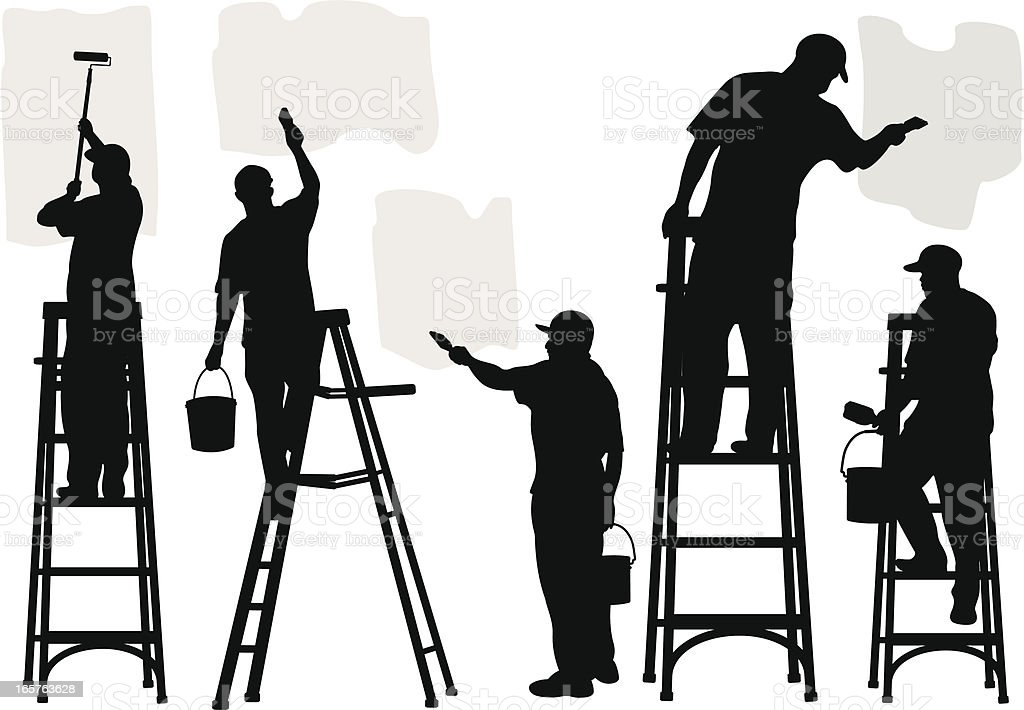 Commercial Painters royalty-free stock vector art