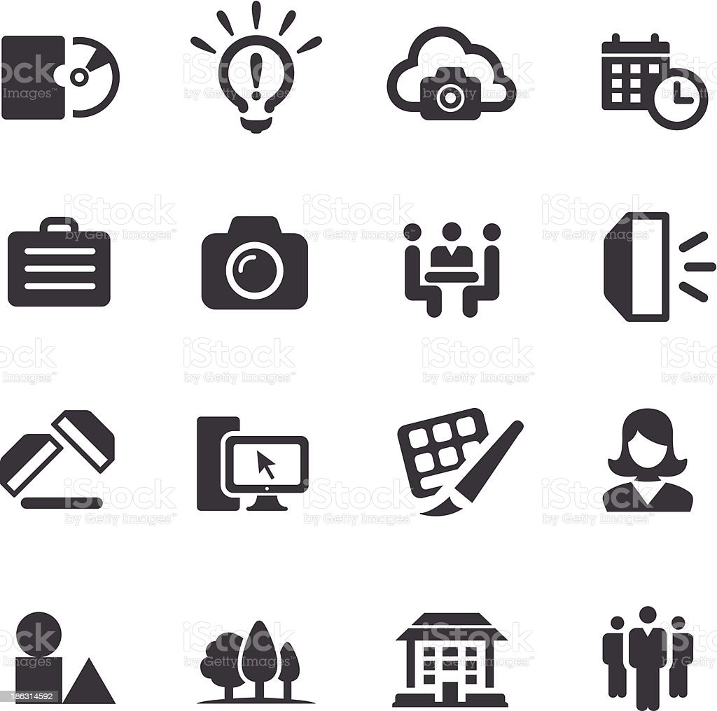 Commercial Photography Icons - Acme Series vector art illustration