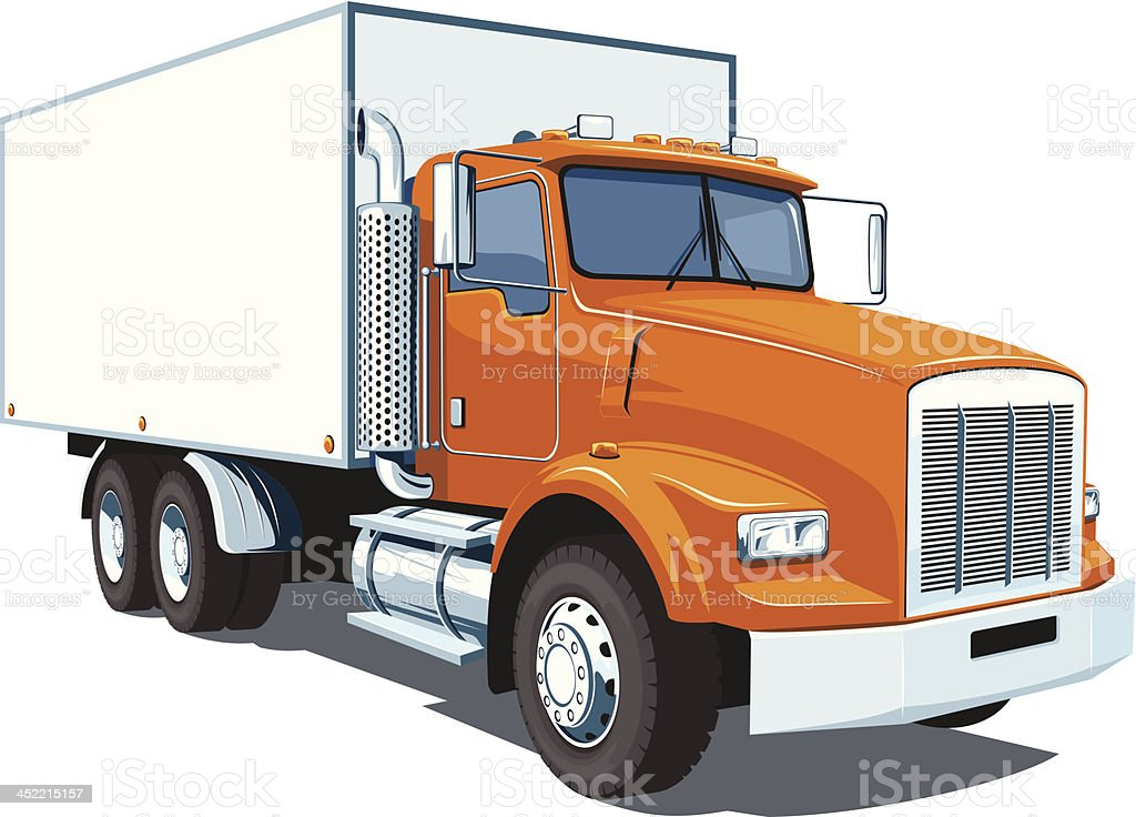 Commercial truck royalty-free stock vector art