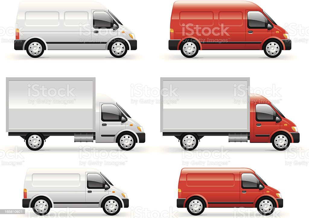 Commercial Van vector art illustration