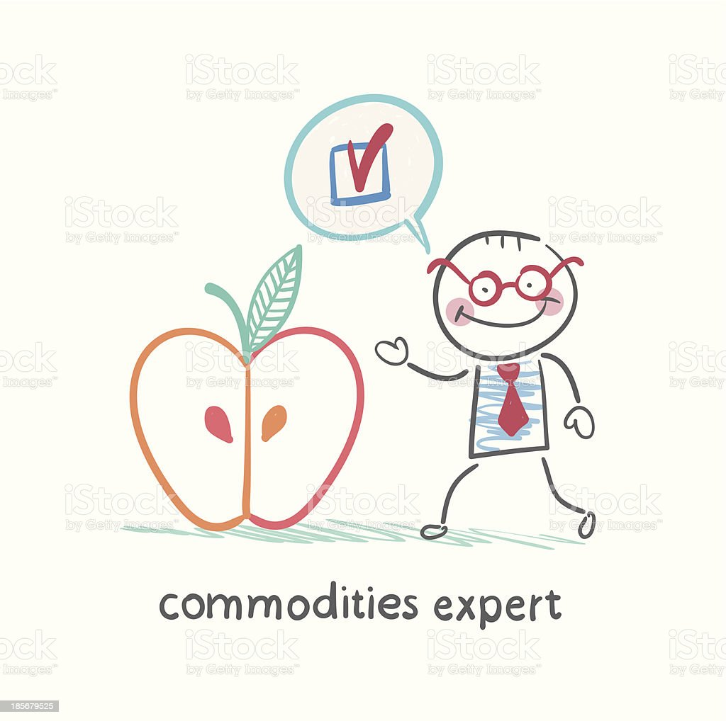 commodities expert stands royalty-free stock vector art