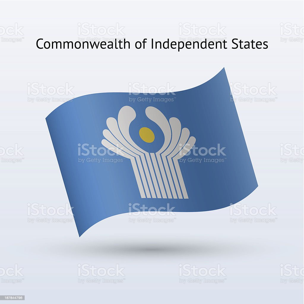 Commonwealth of Independent States Flag royalty-free stock vector art