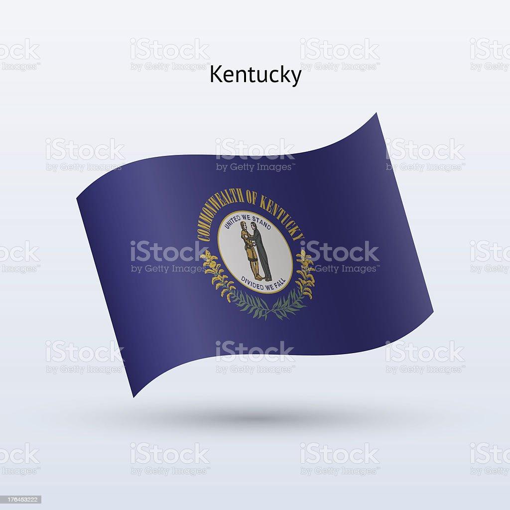 Commonwealth of Kentucky Flag royalty-free stock vector art
