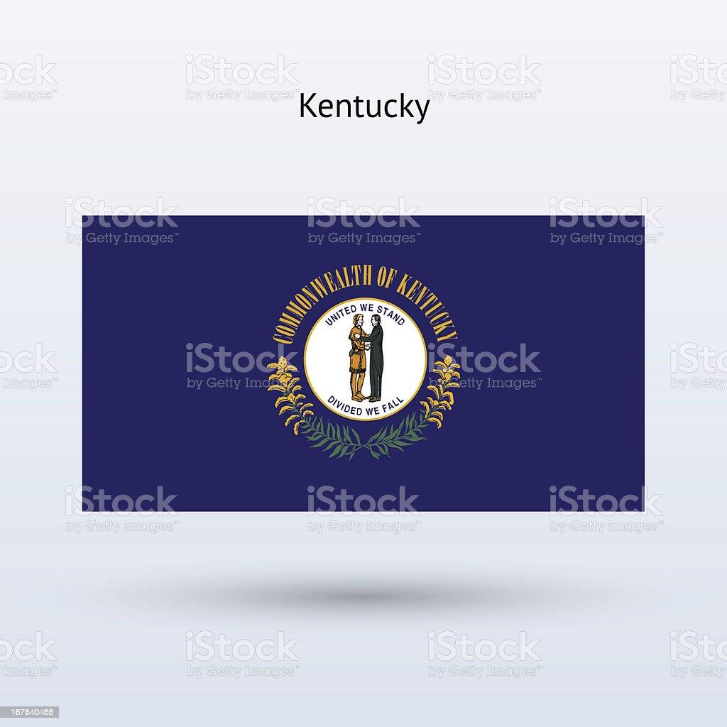 Commonwealth of Kentucky Flag vector art illustration
