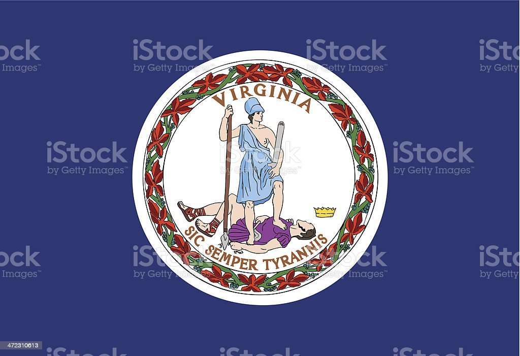 Commonwealth of Virginia Flag vector art illustration