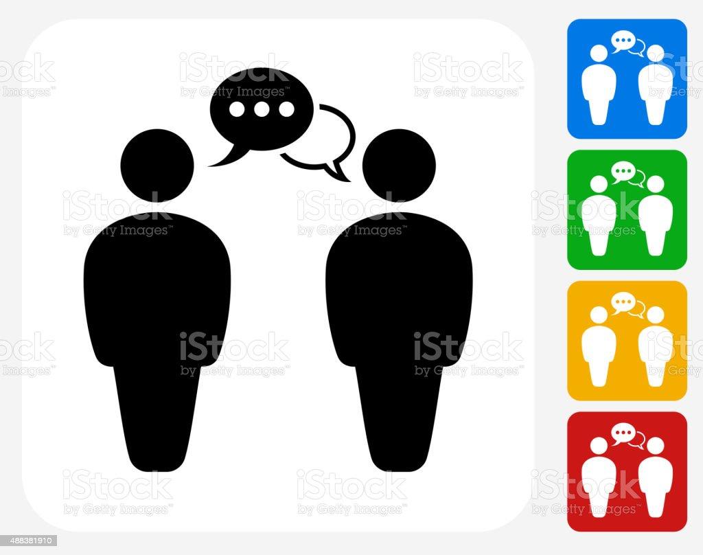 Communicating People Icon Flat Graphic Design vector art illustration
