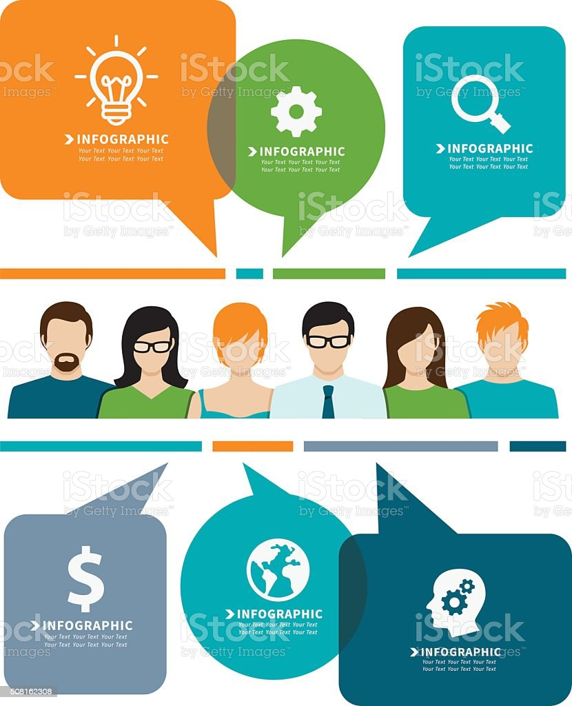 Communication and Business concept. vector art illustration