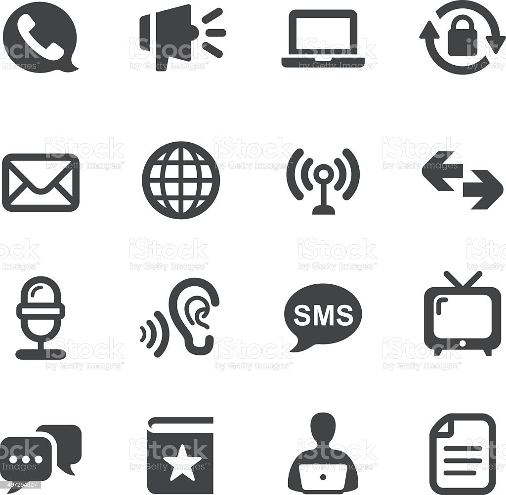 Communication and Media Icons Set - Acme Series vector art illustration