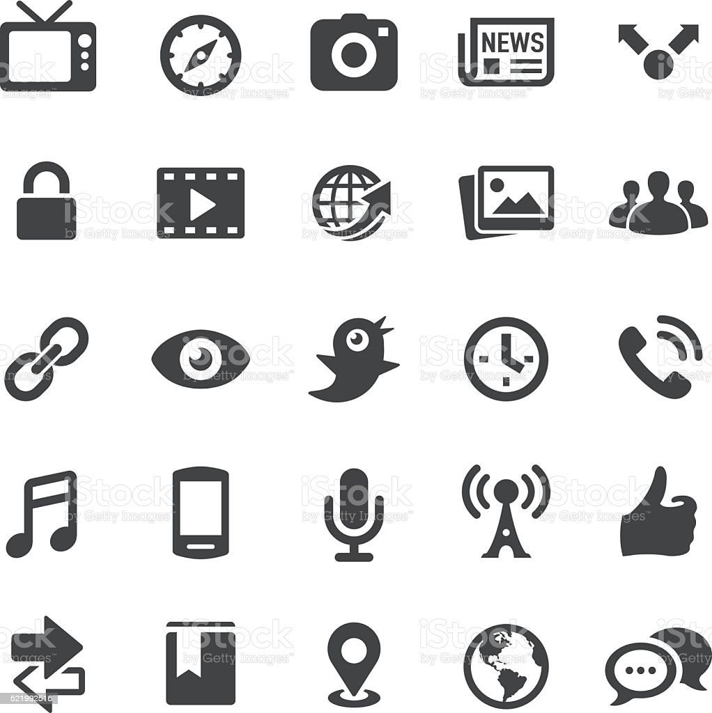 Communication and  Media Icons - Smart Series vector art illustration