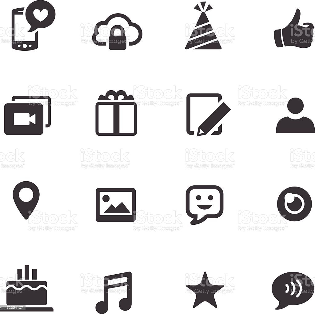 Communication and Social Media Icons - Acme Series vector art illustration