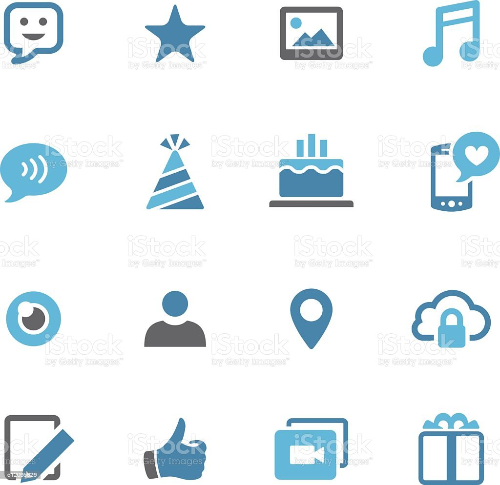 Communication and Social Media Icons - Conc Series royalty-free stock vector art