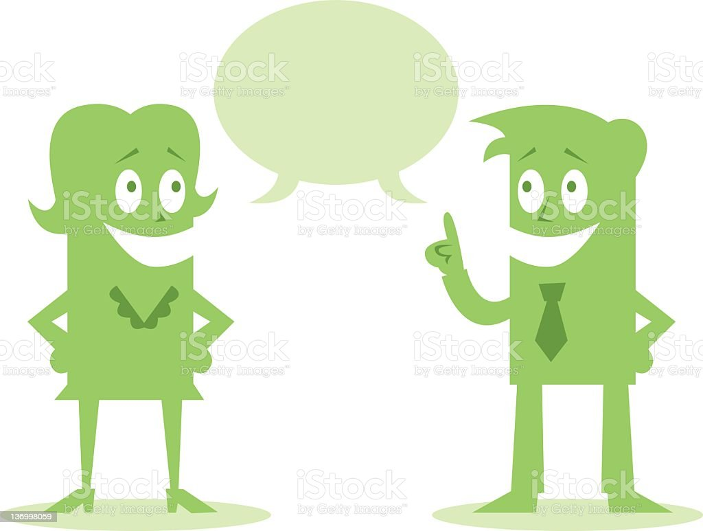 Communication and Team Work royalty-free stock vector art