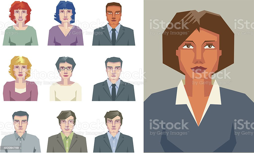 Communication and teamwork royalty-free stock vector art