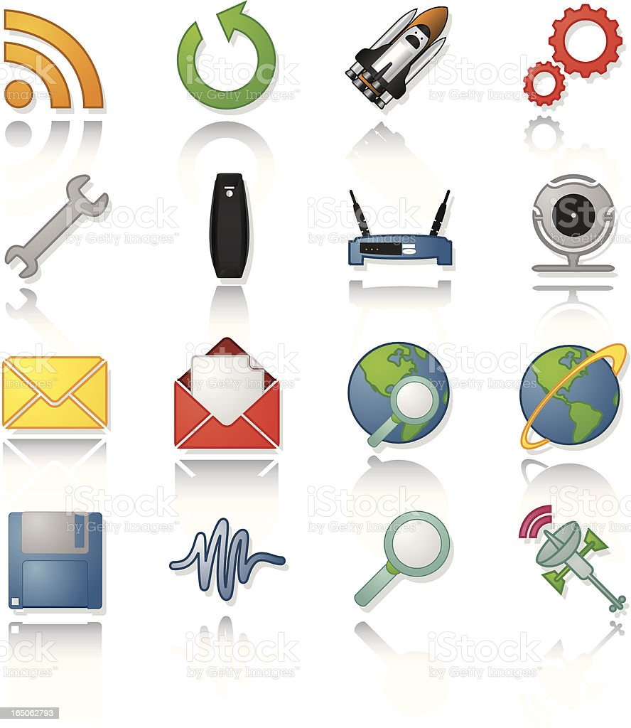 Communication Application Icons royalty-free stock vector art