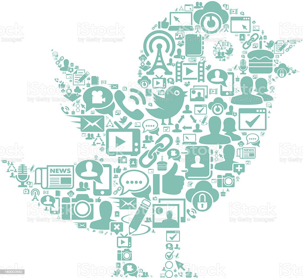 Communication Bird royalty-free stock vector art
