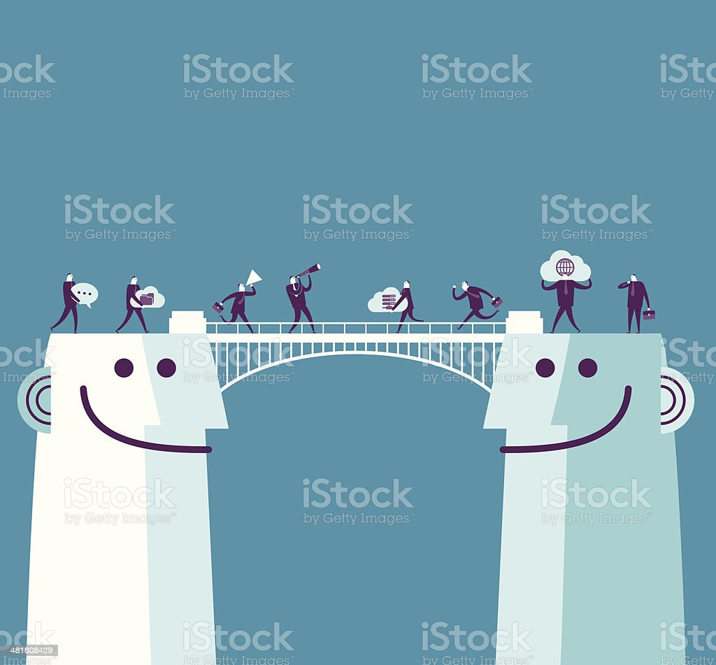 Communication bridge royalty-free stock vector art