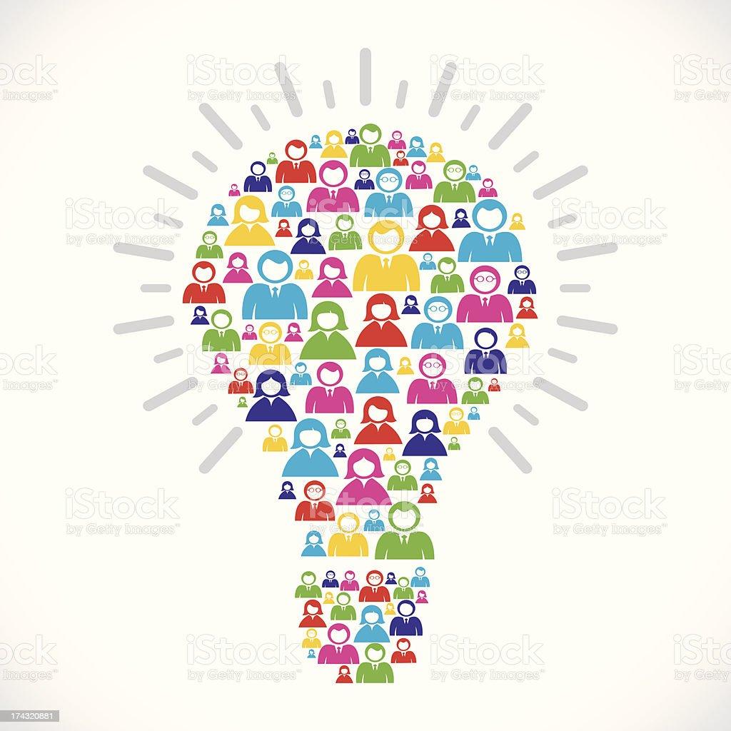 communication bulb royalty-free stock vector art