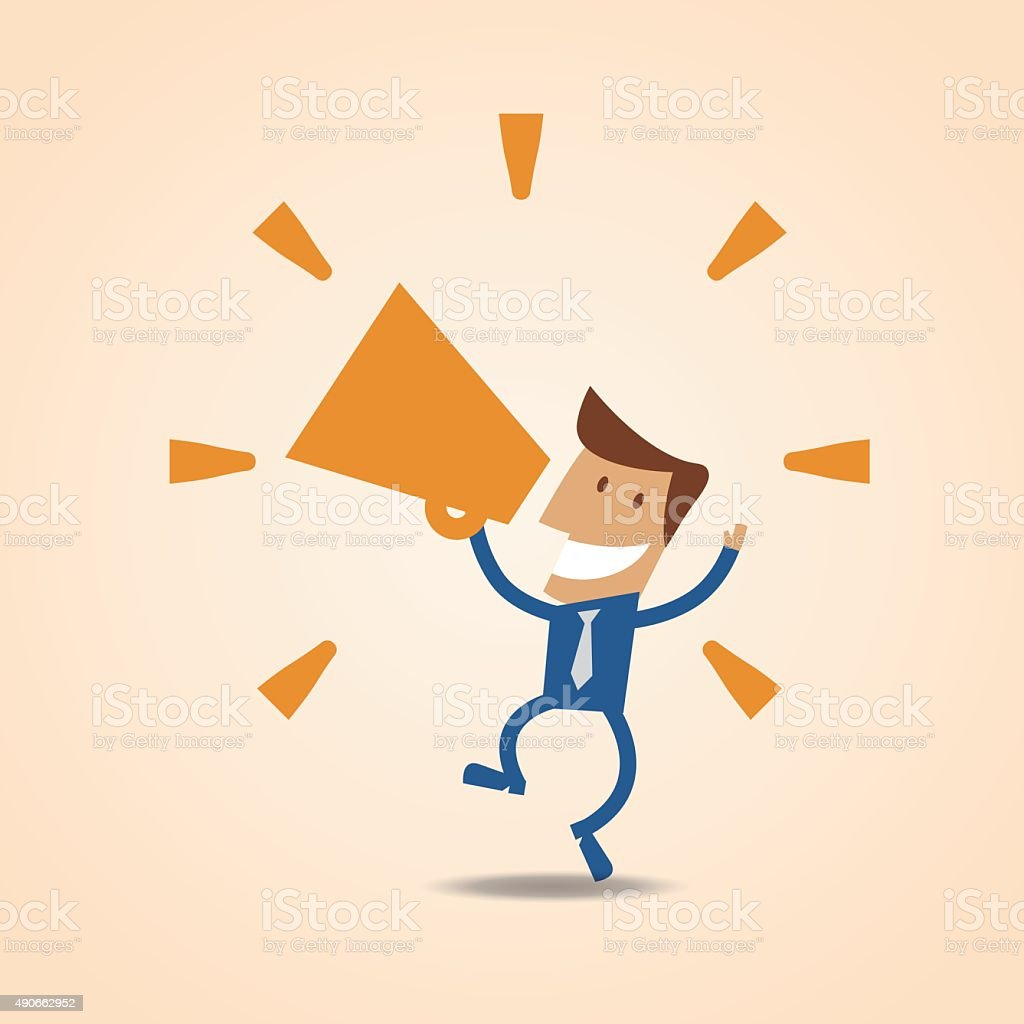Communication - Businessman Series vector art illustration