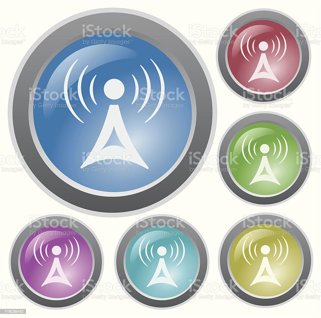 Communication button royalty-free stock vector art
