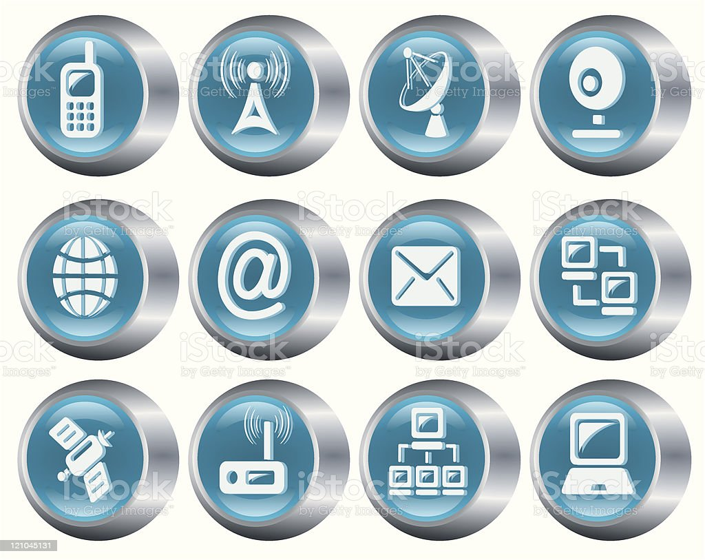 Communication buttons royalty-free stock vector art