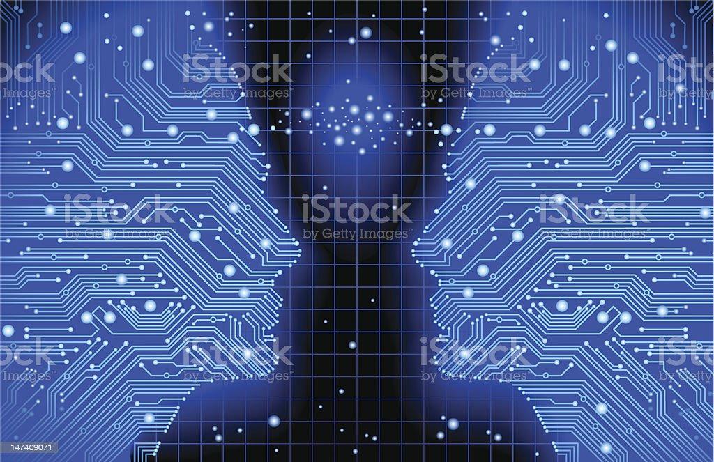 communication circuit board royalty-free stock vector art