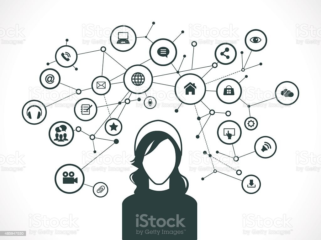 Communication concept network vector art illustration
