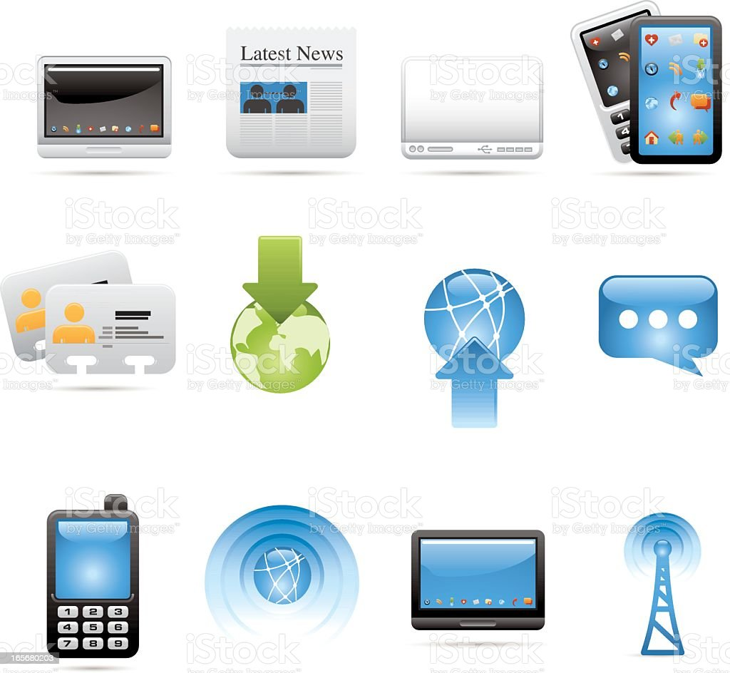 Communication Devices & Concepts royalty-free stock vector art