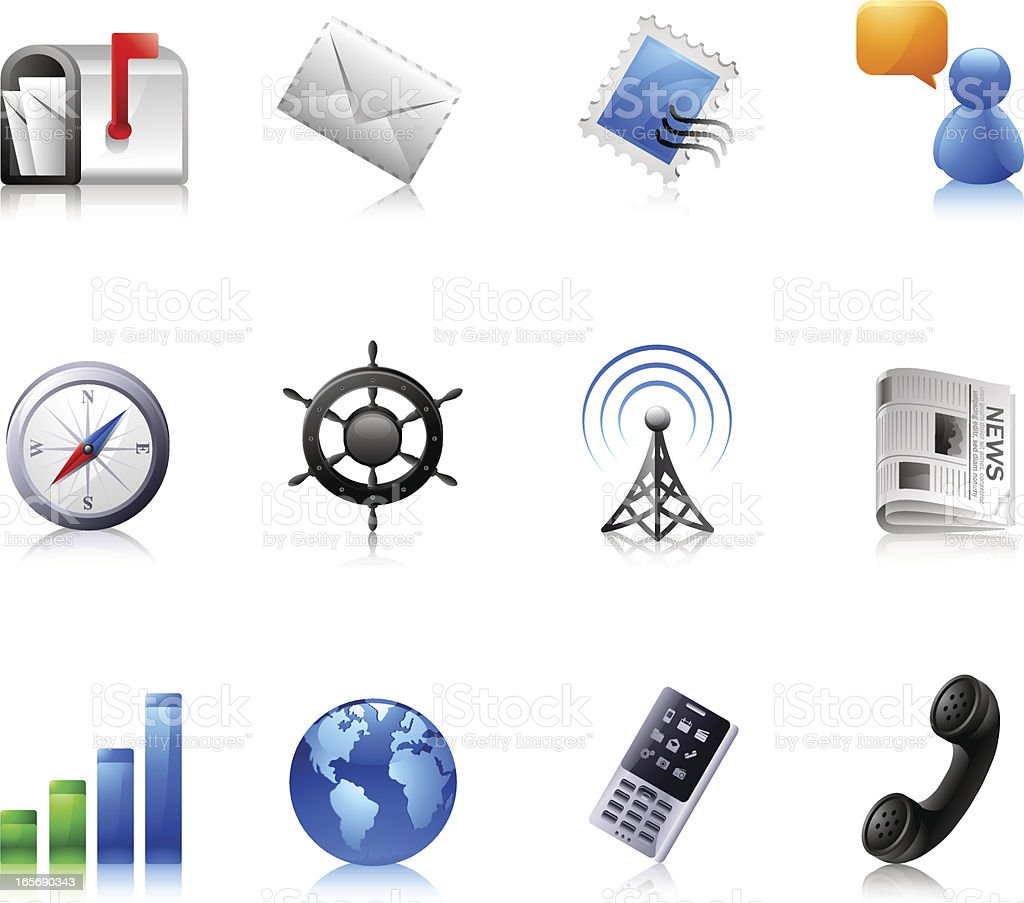 Communication : Dream icons royalty-free stock vector art
