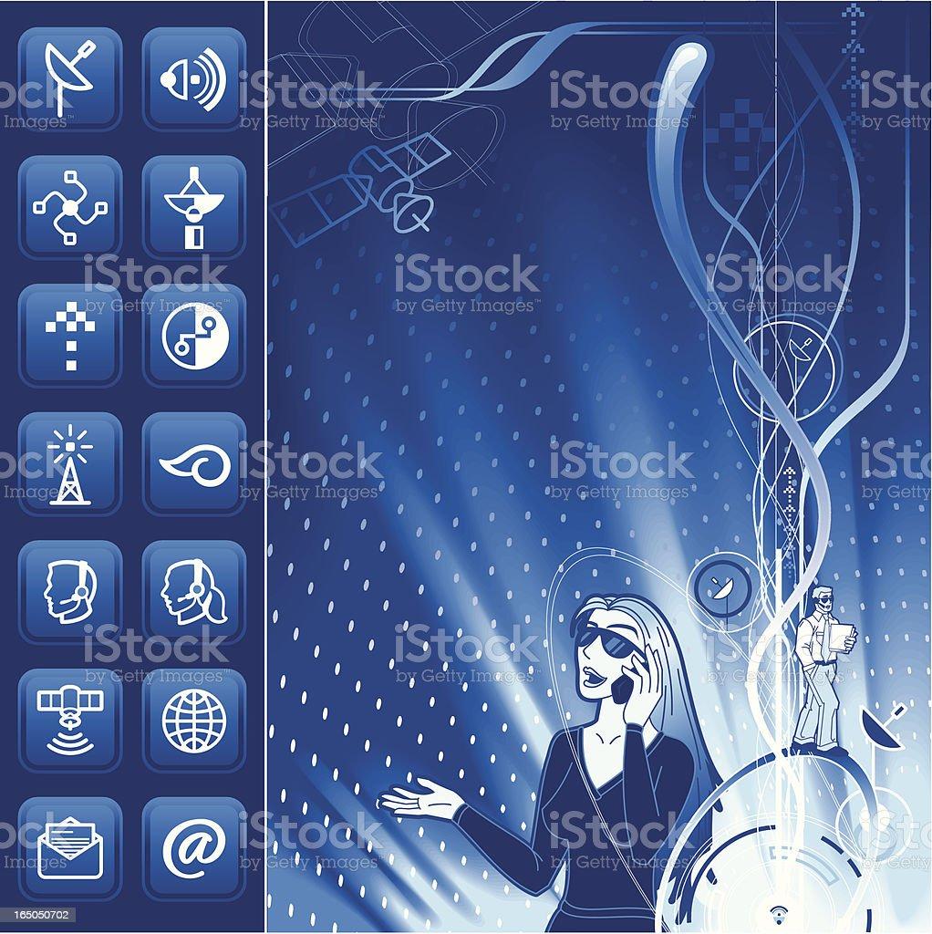 Communication Elements vector art illustration