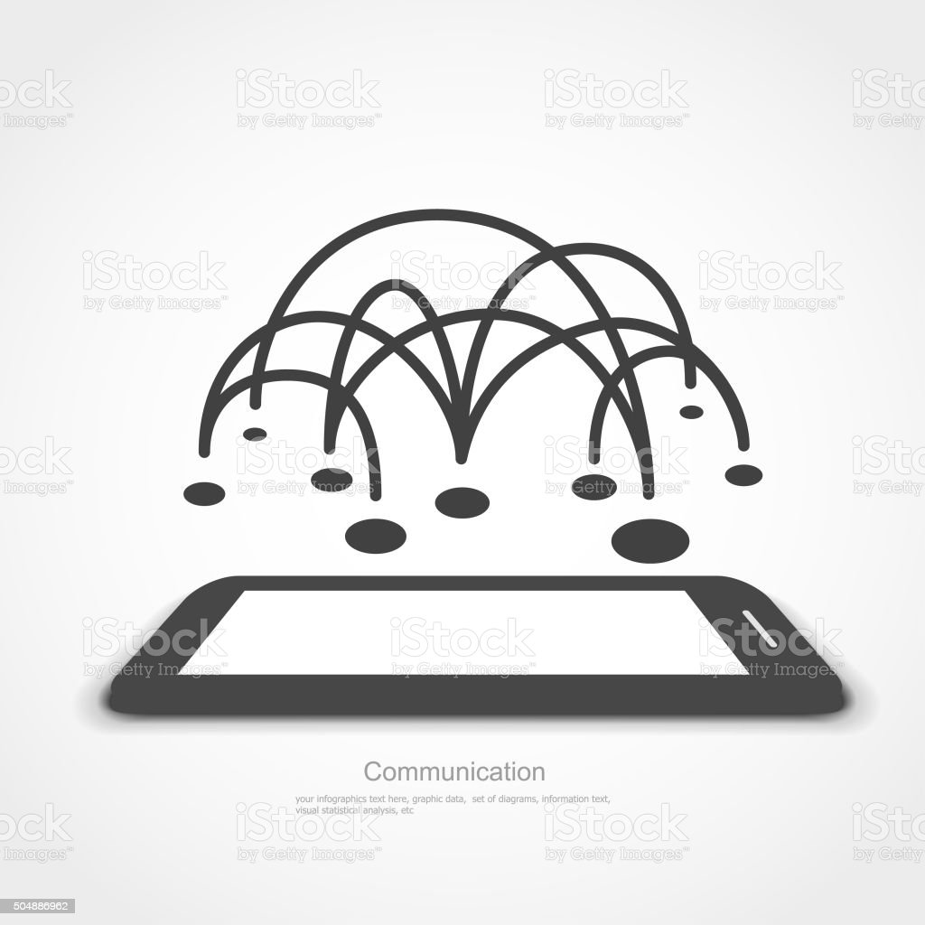 Communication - Graphic Elements vector art illustration